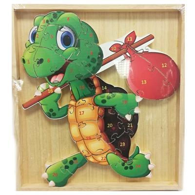 Dětské dřevěné puzzle Želva