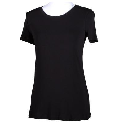 Černé tričko s krátkým rukávem Paula - 1
