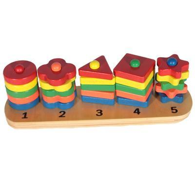 Dětská barevná dřevěná skládačka Emilie