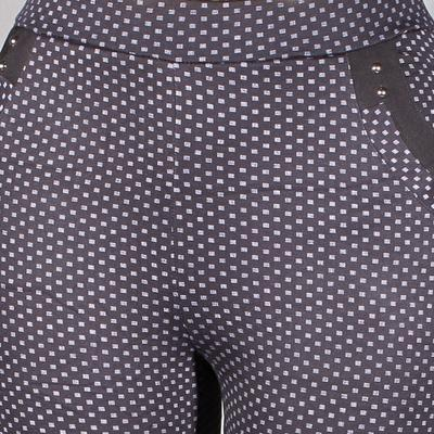 Černé kalhotové zimní legíny se vzorem Judita - 1
