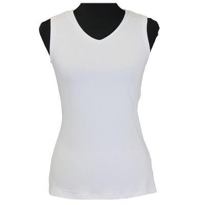 Bílé tričko s širokými ramínky Tamara - 1