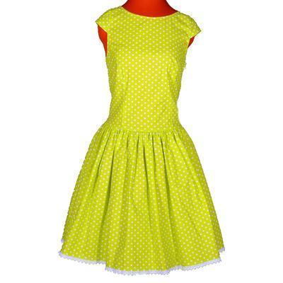 Zelené šaty Elisha s puntíky - 1