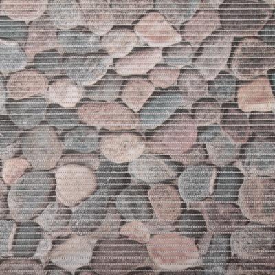 Gumová koupelnová rohož 65cm Kameny šedé - 1
