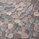 Gumová koupelnová rohož 65cm Kameny šedé - 1/2