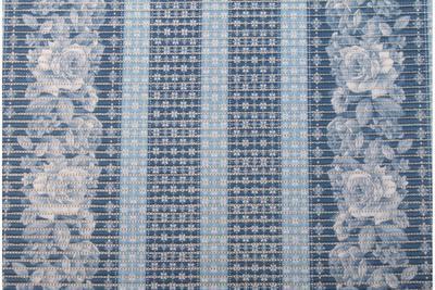 Gumová koupelnová rohož 65cm Kytky