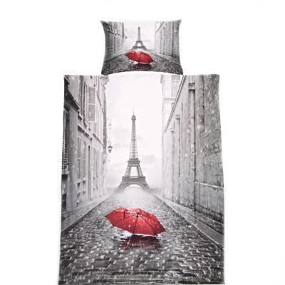3D jednolůžkové povlečení paříž Ulice
