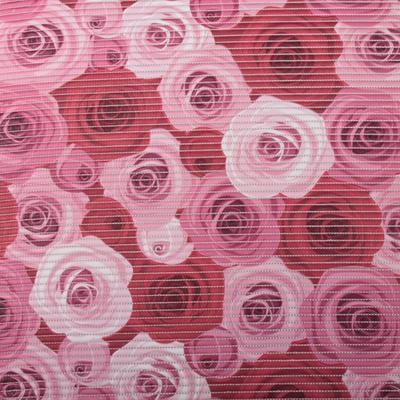Gumová koupelnová rohož 65cm Růže - 1