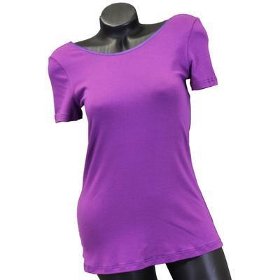 Fialové tričko s krátkým rukávem Belita - 1