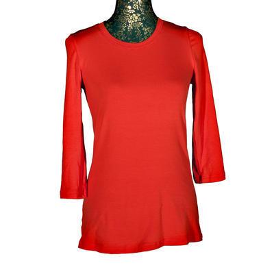 Červené tričko s midi rukávem Kristin - 1