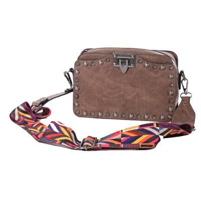 Mini kufříková kabelka Greys tm. hnědá - 1