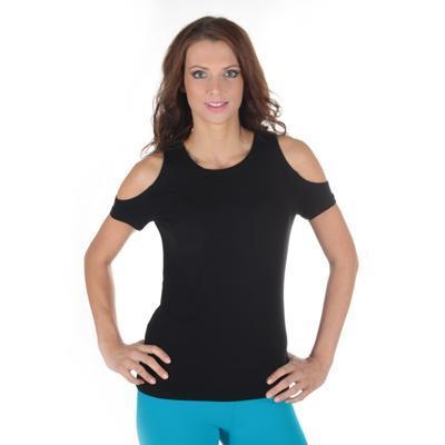 Černé tričko s krátkým rukávem Karin - 1