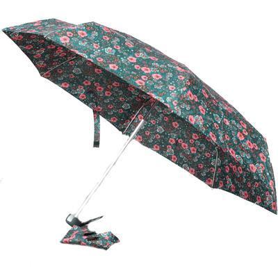 Dámský skládací deštník s potiskem květin Arleta