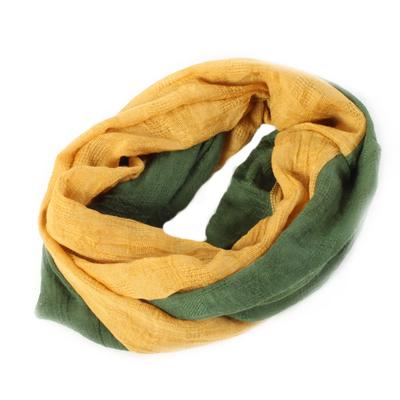 Šátek Kevin žluto-zelený