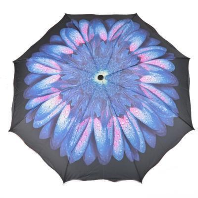 Skladací dámský deštník Simona modrý - 1