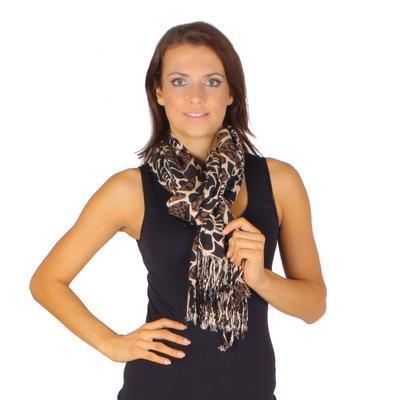 Široký světle hnědý šátek Nena C2