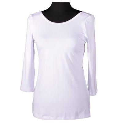 Bílé tričko s midi rukávem Mia - 1