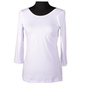 Bílé tričko s midi rukávem Mia - 1/2