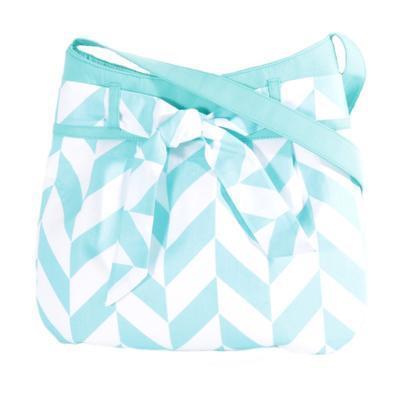 Modrá plátěná kabelka Brigitte - 1