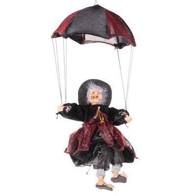 Závěsná čarodějnice na deštníku Jolana bordó