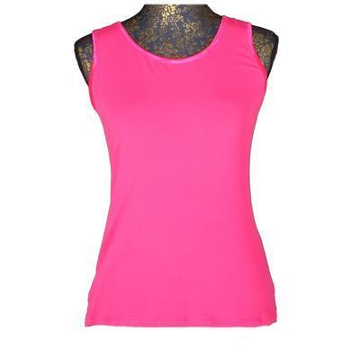 Růžové tričko s širokými ramínky Jolana - 1