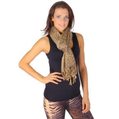 Trendy šátek Nancy hnědý C4 - 1