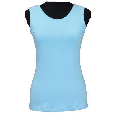 Světle modré tričko s širokými ramínky Amanda - 1