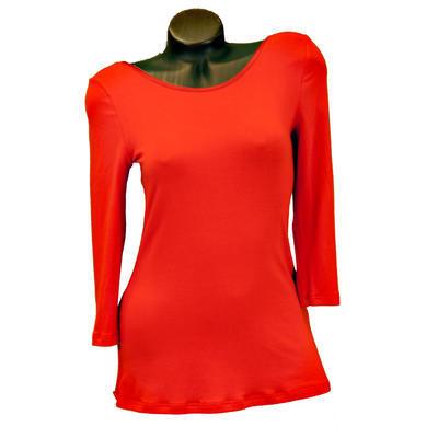 Červené tričko s midi rukávem Mia