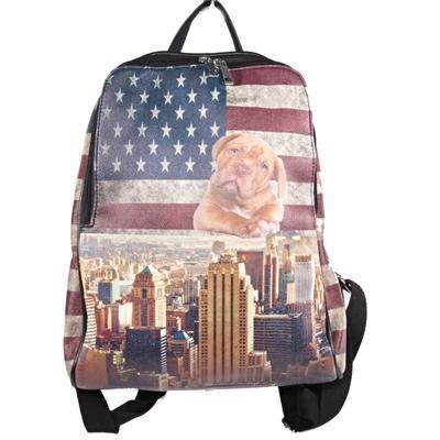 Stylový batoh Natálie motiv Amerika 2A - 1