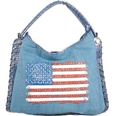 Stylová modrá kabelka Tomas 3D - 1