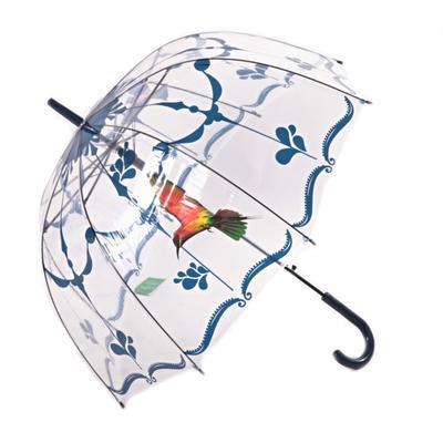 Průhledný deštník Luky tmavě modrý - 1