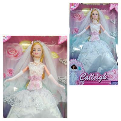 Blonďatá panenka nevěsta 29cm Hela