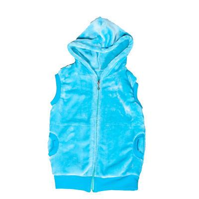 Hřejivá dětská vesta s kapucí Lionela modrá