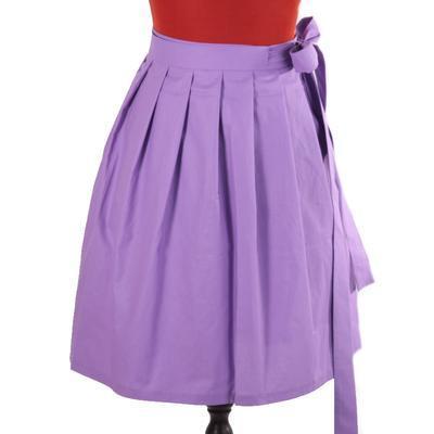 Fialová zavinovací sukně Ammy bez potisku - 1