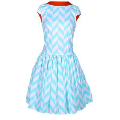 Tyrkysové šaty Bethany - 1