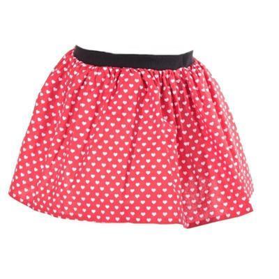 Dívčí červená sukně Isabel se srdíčky - 1
