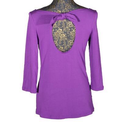 Fialové tričko s midi rukávem Vanesa - 1