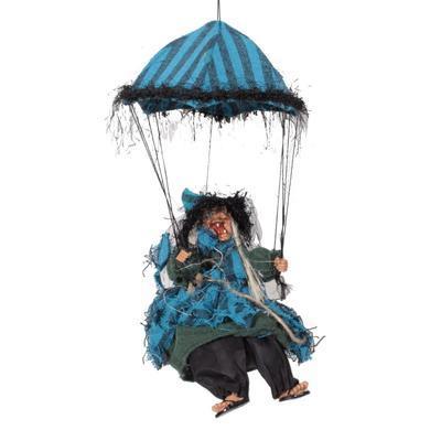 Závěsná čarodějnice na deštníku Alžběta sv. modrá