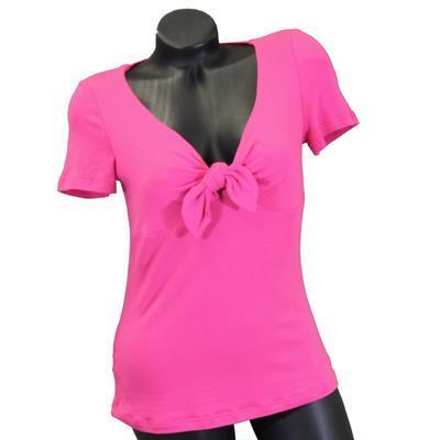 Růžové tričko s krátkým rukávem Daniela - 1