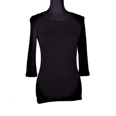 Černé tričko s midi rukávem Kristin - 1