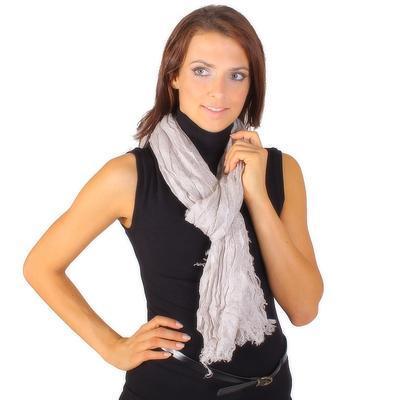 Světle šedý šátek Ema B1