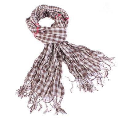 Kostkovaný šátek Lott hnědý D7