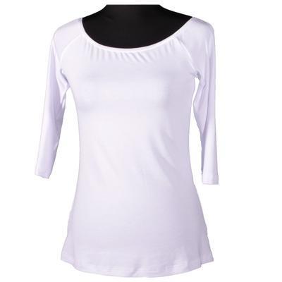Bílé tričko s midi rukávem Klaudie - 1