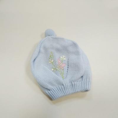 Pletená dívčí čepice Julinka modrá