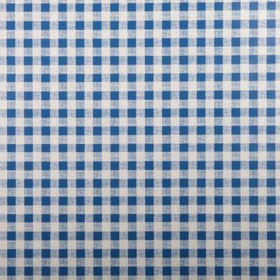 Omyvatelný ubrus motiv Kostička malá metráž modrý - 1