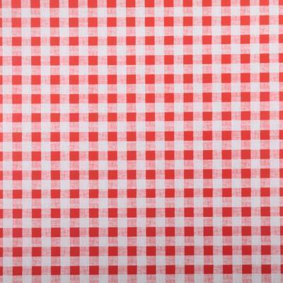 Omyvatelný ubrus motiv Kostička malá metráž červený - 1