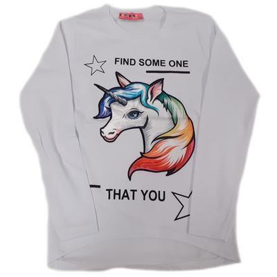Dětské bílé tričko s blikajicím obrázkem Maila
