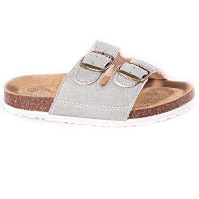 Dětské korkové pantofle Alex šedé - 1