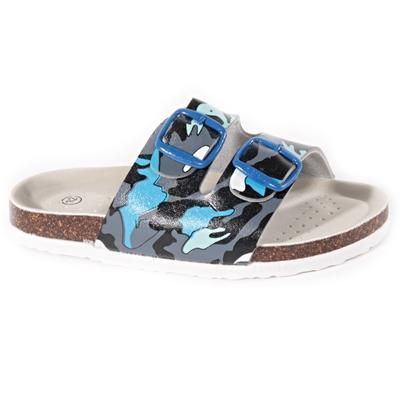 Dětské pantofle Army modré - 1
