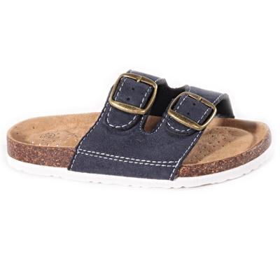 Dětské korkové pantofle Alex modré - 1