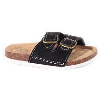 Dětské korkové pantofle Alex černé - 1